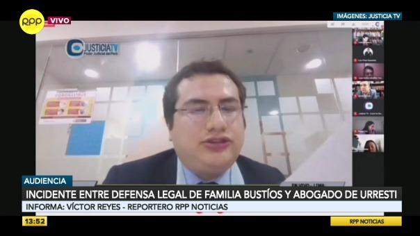 Incidente entre el abogado de Daniel Urresti y la defensa legal de la familia de Hugo Bustíos.