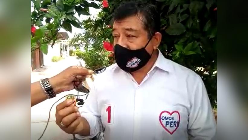 Santos Popuche negó haber entregado dinero al conductor radial.