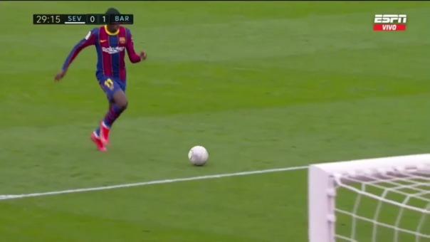 Ousmane Dembelé anotó el 1-0 ante Sevilla