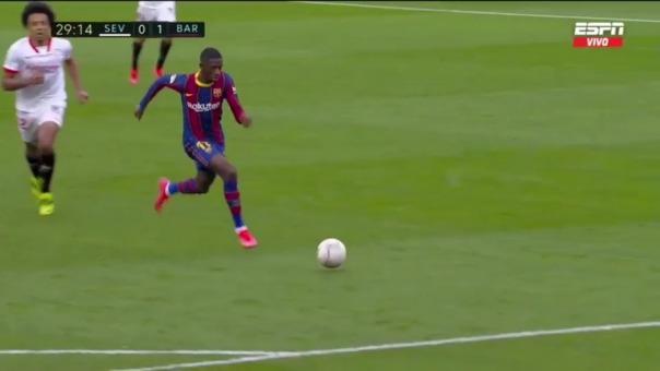 Ousmane Dembelé convirtió el 1-0 ante Sevilla