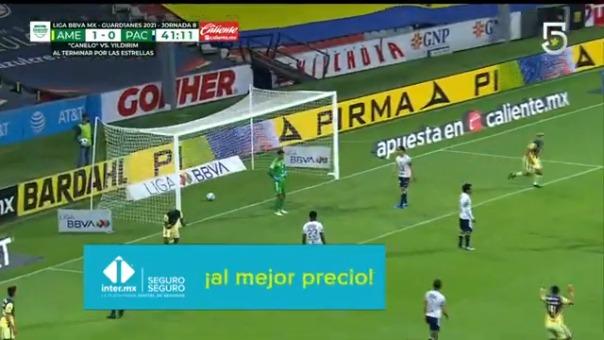 Así fue el gol de Aquino en el América frente al Pachuca.
