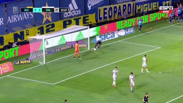 Boca Juniors 1-1 Sarmiento: así fueron los goles del partido