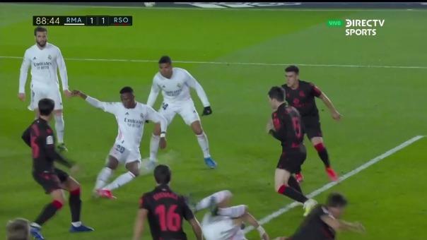 Real Madrid 1-1 Real Sociedad: así fue el gol de Vinicius Jr.
