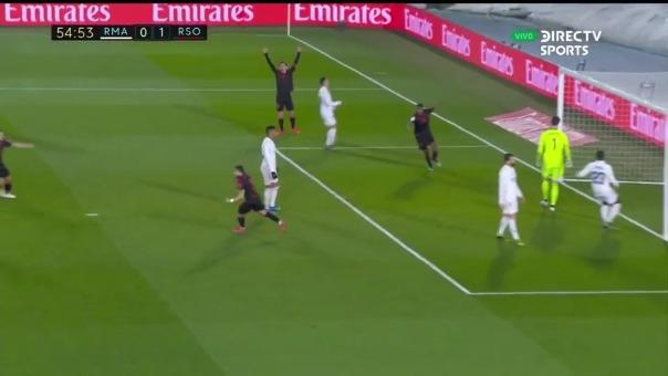 Gol de Real Sociedad.