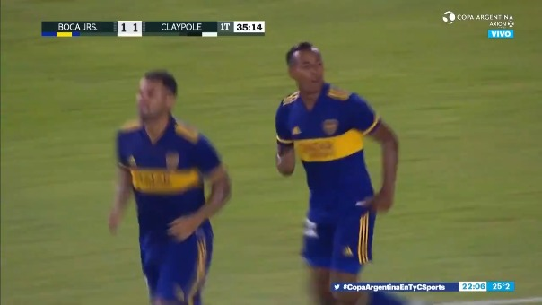 Boca Juniors 1-1 Claypole: así fue el gol de Villa