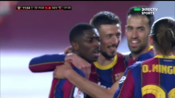 Barcelona 1-0 Sevilla: así fue el gol de Dembelé
