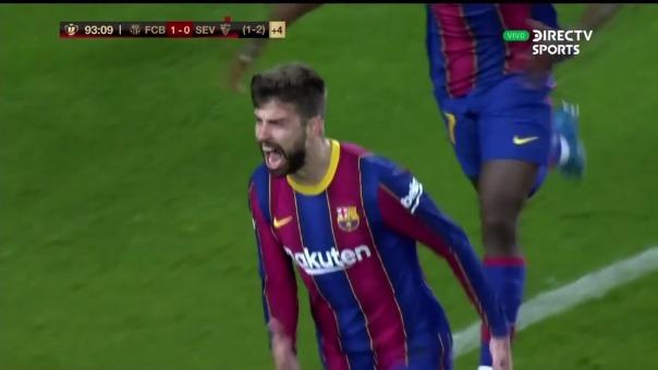 Barcelona 2-0 Sevilla: así fue el gol de Piqué