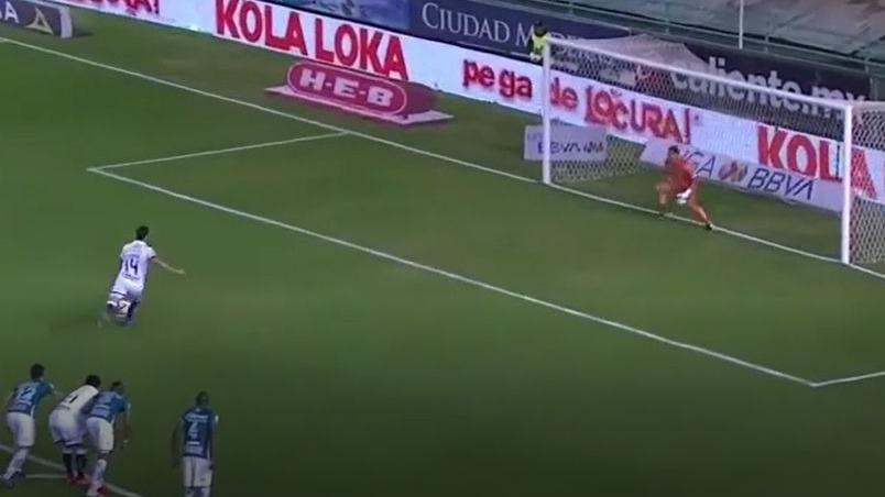 Este fue el gol de Santiago Ormeño en el Puebla ante León.