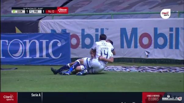 León vs. Puebla: así fue el gol de Daniel Álvarez, pero miren el detalle en la jugada previa de Santiago Ormeño
