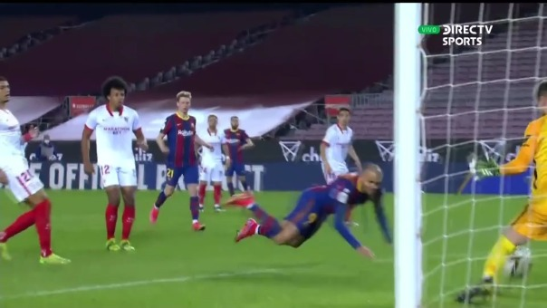Barcelona 3-0 Sevilla: así fue el gol de Martin   Braithwaite