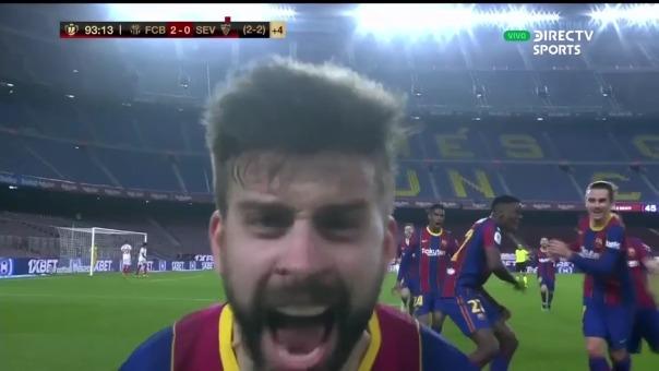 Gol de Gerard Piqué