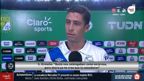 Santiago Ormeño feliz por su gol ante León.