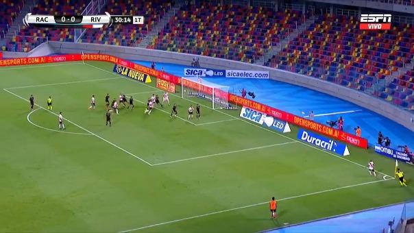 Racing 0-1 River Plate: así fue el gol de Borré