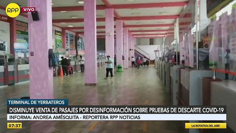 Este es el panorama en el terminal de Yerbateros.