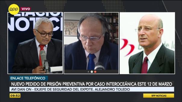 Avi Dan On, exjefe de Seguridad del expresidente Alejandro Toledo.