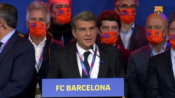 Joan Laporta habló de Lionel Messi.
