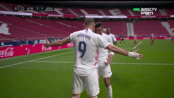 Atlético de Madrid 1-1 Real Madrid: así fue el gol de Karim Benzema