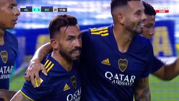 Vélez 1-5 Boca: así fue el gol de Carlitos Tevez