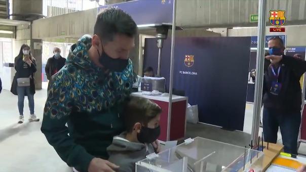Lionel Messi participa en las elecciones.