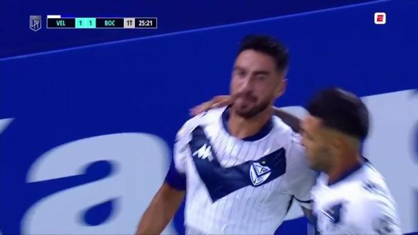 Velez 1-1  Boca: así fue el gol de Lucero
