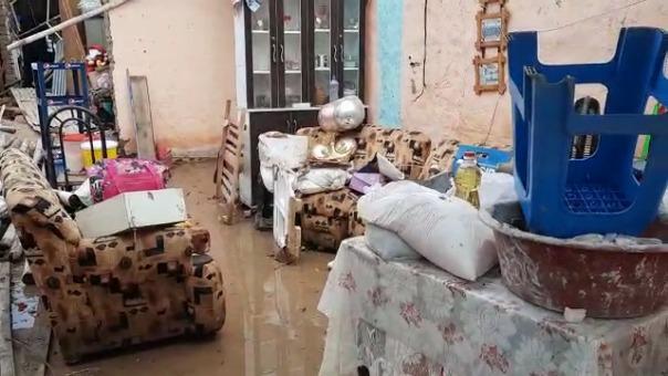 En el distrito de Íllimo algunas viviendas de la zona urbana se vieron severamente afectadas por las lluvias.