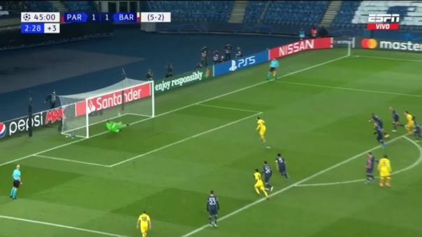Keylor Navas le tapó un penal a Lionel Messi