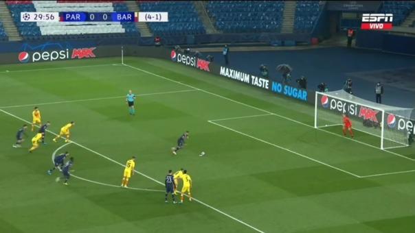 PSG 1-0 Barcelona: así fue el gol de Mbappé
