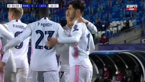 Real Madrid 3-1 Atalanta: así fue el gol de Asensio