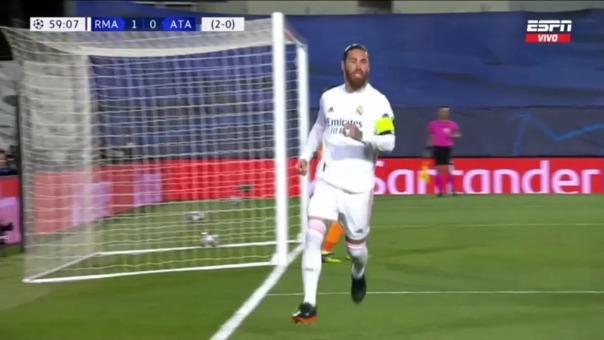 Real Madrid 2-0 Atalanta: así fue el gol de Ramos