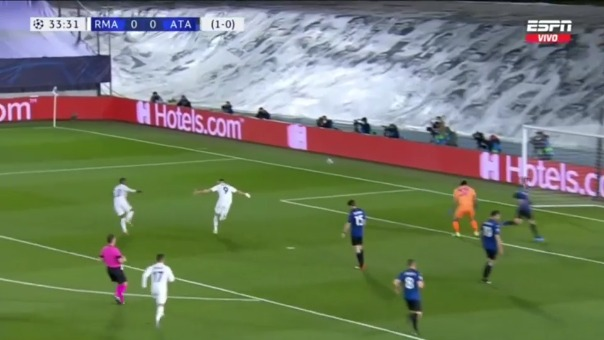 Karim Benzema marcó el 1-0 del Real Madrid