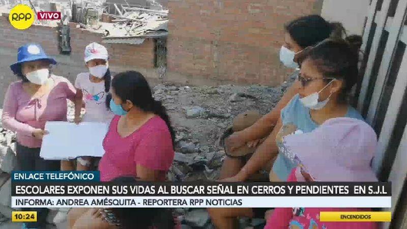 Un equipo de RPP Noticias acompañó a los menores y a sus padres.
