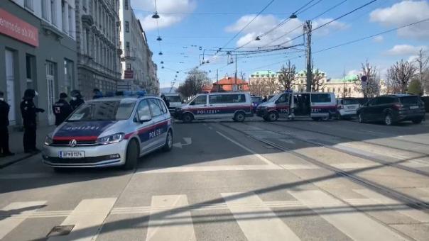Protesta en Viena contra el confinamiento.