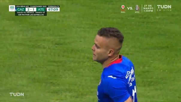 Cruz Azul 2-1 Atlas: así fue el gol de 'Cabecita' Rodríguez