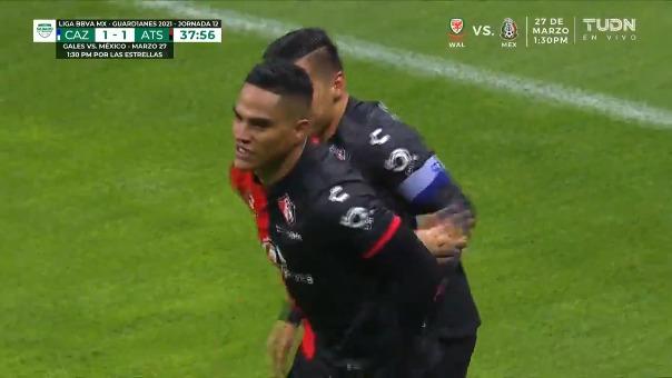 Cruz Azul 1-1 Atlas: así fue el gol de Anderson Santamaría