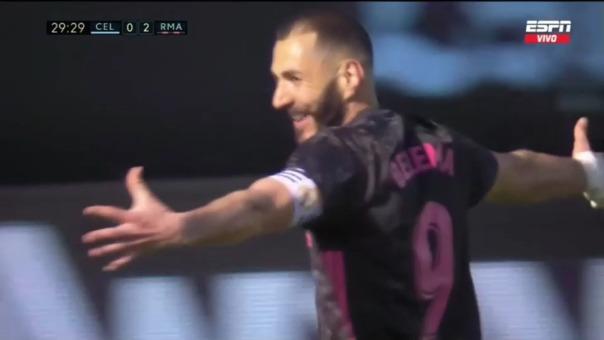 Celta 0-2 Real Madrid: así fue el segundo gol de Karim Benzema