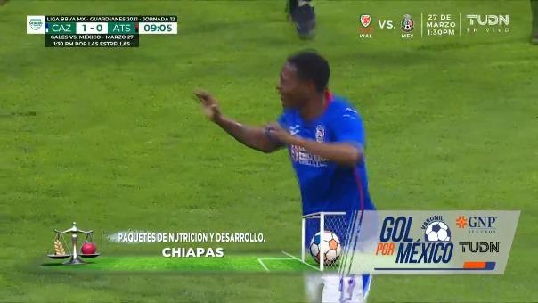 Cruz Azul vs. Atlas: así fue el gol de Bryan Angulo