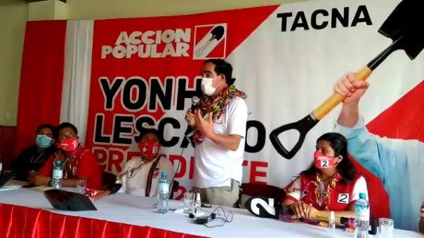 En su visita a la ciudad de Tacna, Yonhy Lescano, anunció que pedirá a Chile devolver el monitor Huáscar.