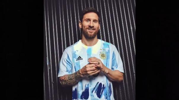 Lionel Messi y la presentación de la camiseta de Argentina