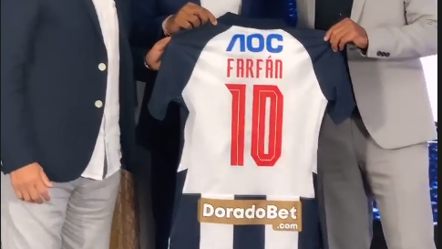 Jefferson Farfán llevará la '10' en Alianza Lima