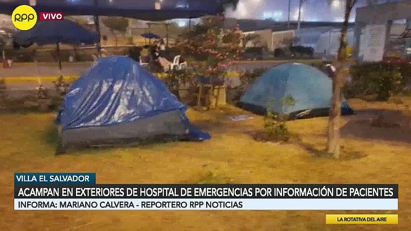 Este es el panorama afuera del Hospital de Emergencias Villa El Salvador.
