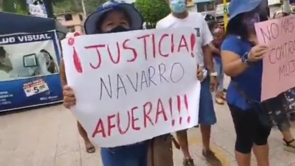 Ciudadanos del sector de Santa Ana protestaron en contra de la autoridad edil.