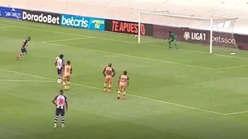 El gol de Hernán Barcos en el Alianza Lima vs. Cusco FC.