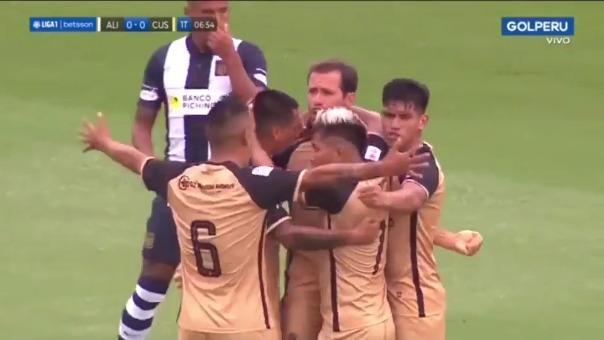 Gol de Mauricio Montes para el 1-0 ante Alianza Lima