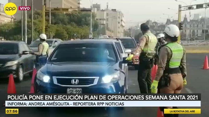 La Policía de Tránsito realiza operativos de fiscalización en distintos puntos.