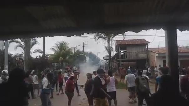 Ciudadanos de nauta se enfrentaron a la Policía durante protesta por mal servicio de energía eléctrica.