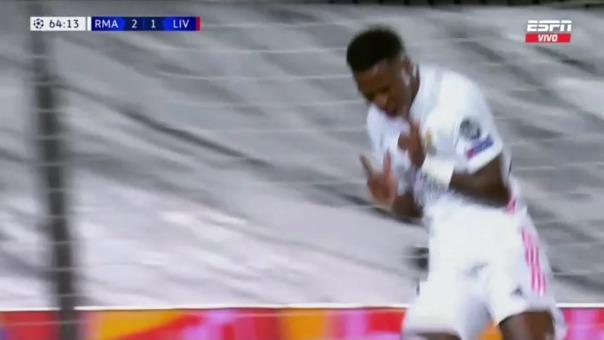Real Madrid 3-1 Liverpool: así fue el segundo gol de Vinicius Junior
