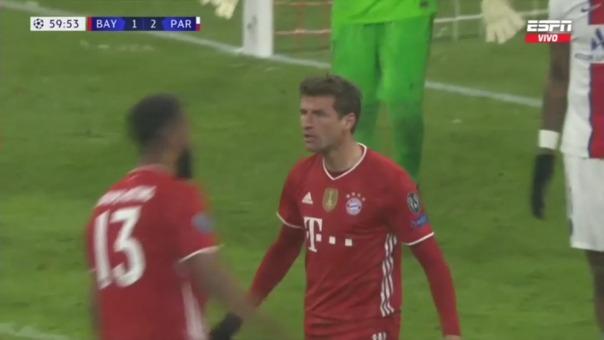 Bayern Munich 2-2 PSG: así fue el gol de Müller
