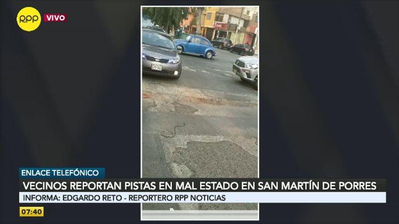 Este es el estado de la cuadra 4 de la avenida Honorio Delgado.