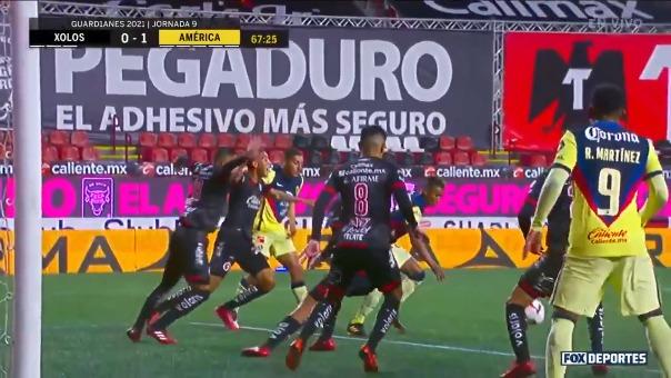 Este fue el gol de Pedro Aquino en el América vs. Tijuana por Liga MX.