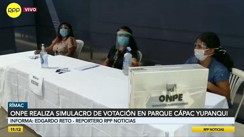 El simulacro de votación se realizó en el parque zonal Cápac Yupanqui.